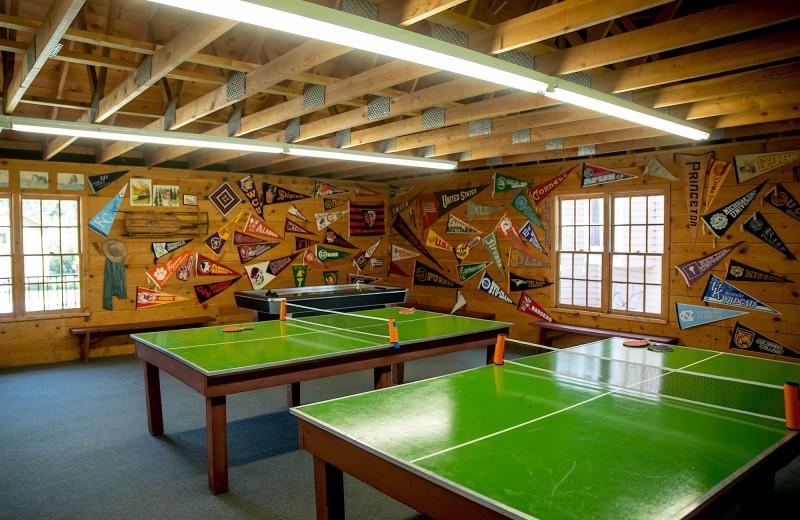 Rec room at Colorado Trails Ranch.