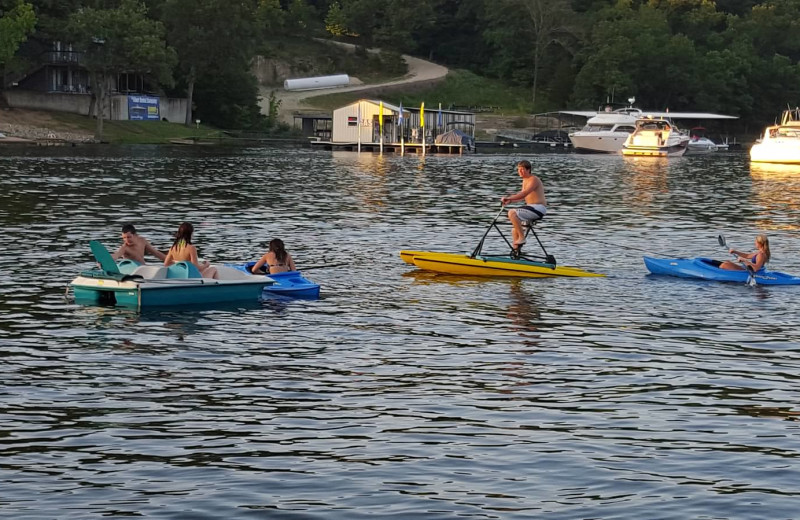 Lake activities at Lake Breeze Resort.
