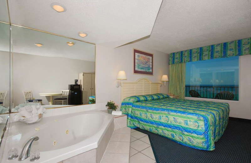 Guest room at Beachcomber by the Sea.