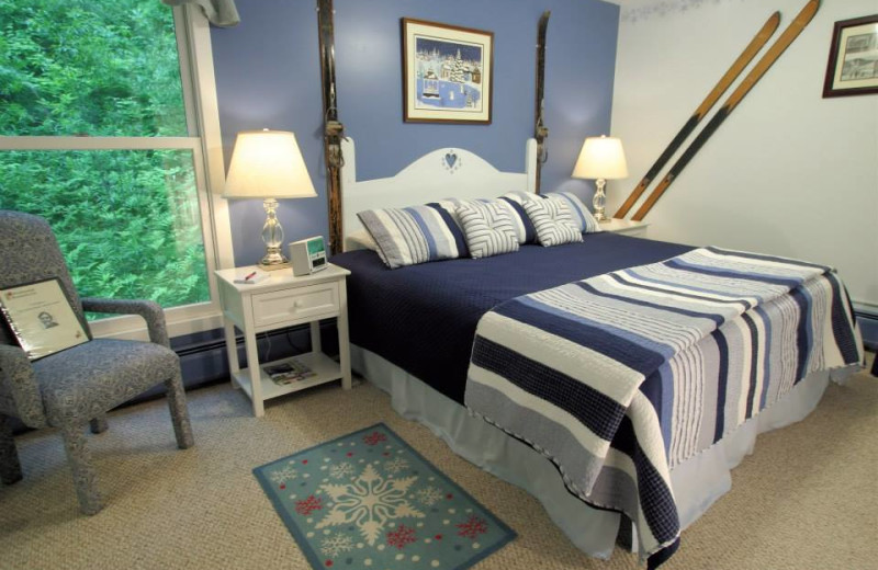 Guest room at Weathertop Mountain Inn.
