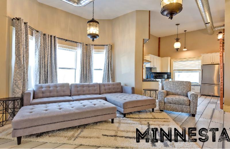 Rental bedroom at Minnestay.