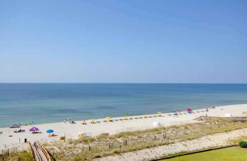 Beach view at Perdido Sun Condos.