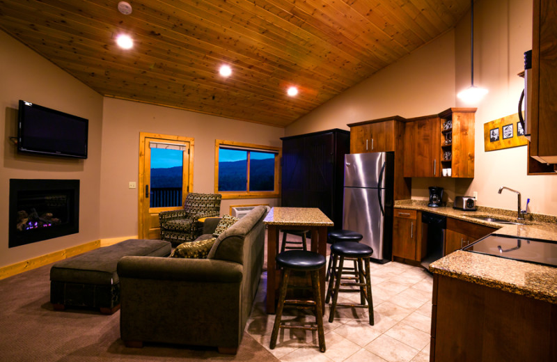 Guest room at Eagle Ridge at Lutsen Mountains.