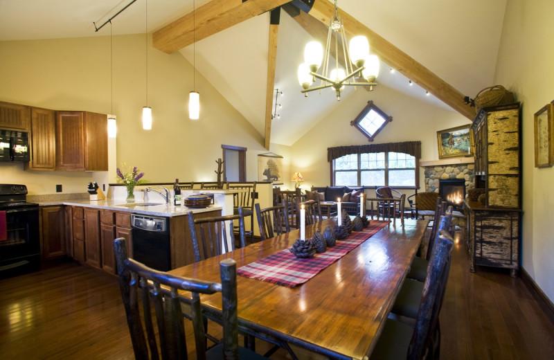 Rental dining room at Owaissa Club Vacation Rentals.