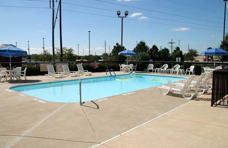Outdoor pool at Hampton Inn Springfield-South.
