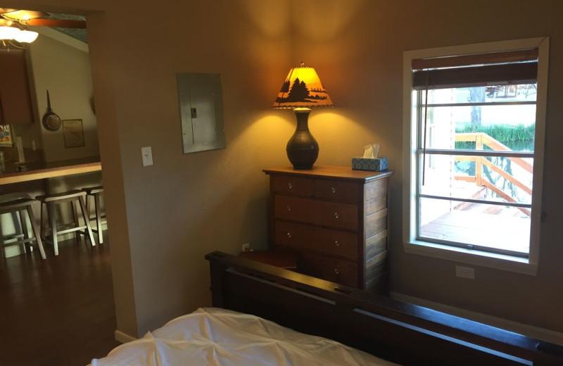 Bedroom at The Secret Cabin.