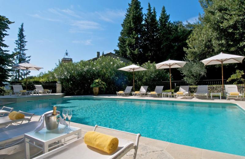 Outdoor pool at Hostellerie de Varenne.