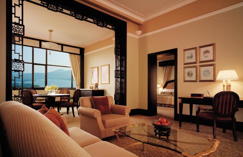 Guest suite at Shangri-La Hotel-Hangzhou.