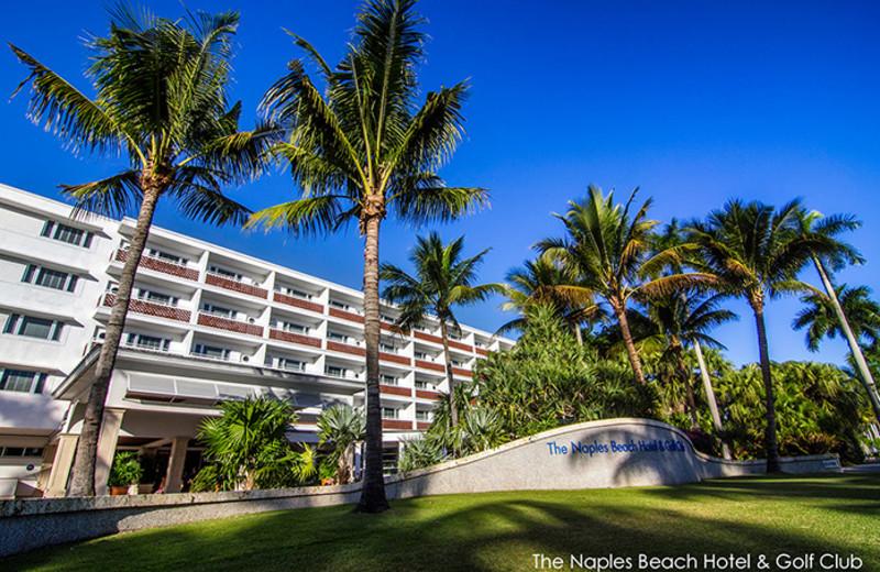 Exterior view of The Naples Beach Hotel & Golf Club.