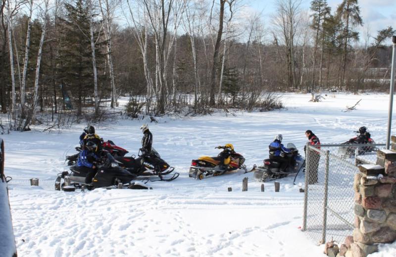 Winter activities at Popp's Resort.