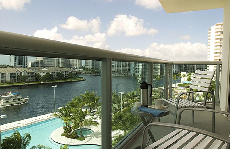 Balcony view at Crowne Plaza Hollywood Beach Resort.