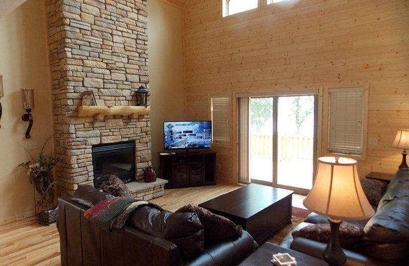 Villa living room at Wilderness Resort Villas.