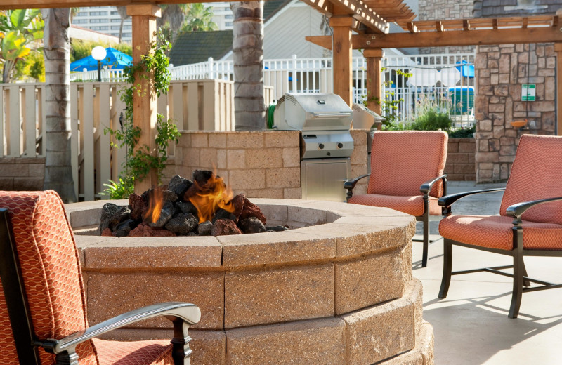Patio view at Residence Inn by Marriott Los Angeles Torrance/Redondo Beach.