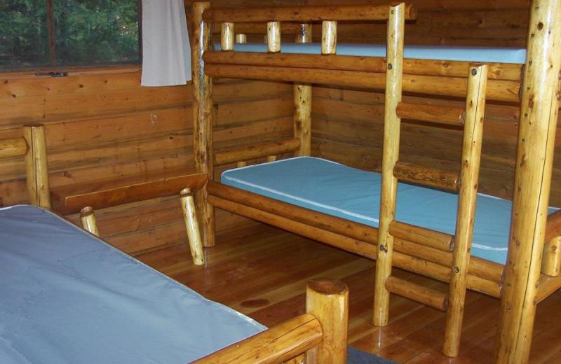 Cabin interior at Old Forge Camping Resort.