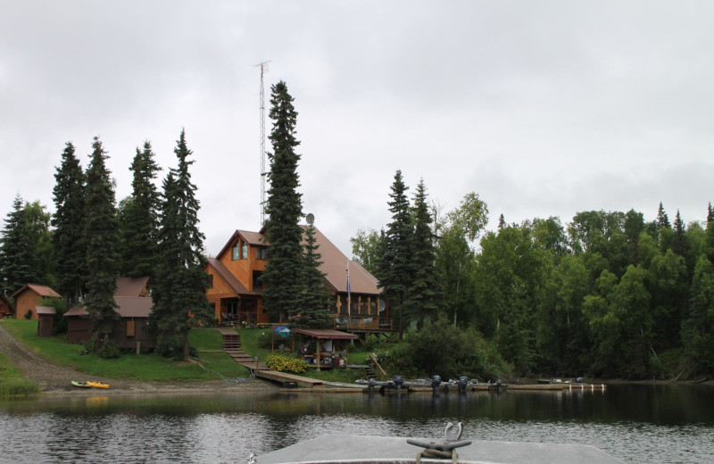 Resort from lake at Northwoods Lodge.
