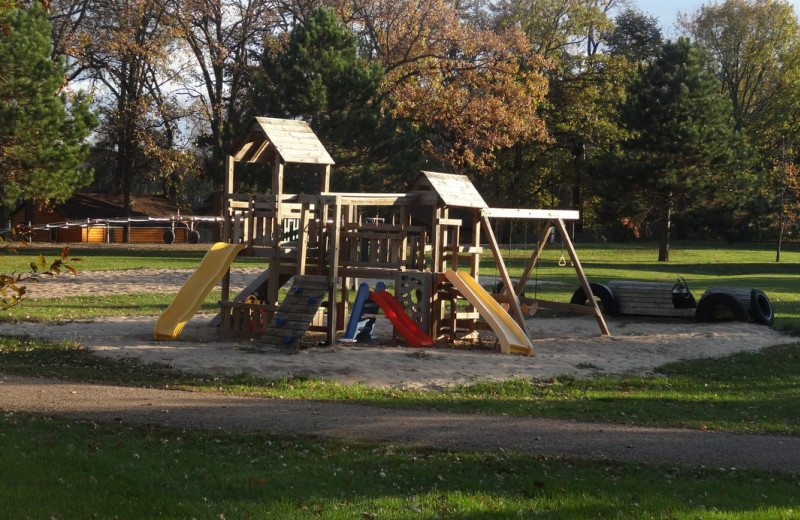 Kid's playground at Twin Oaks Resort & RV Park.