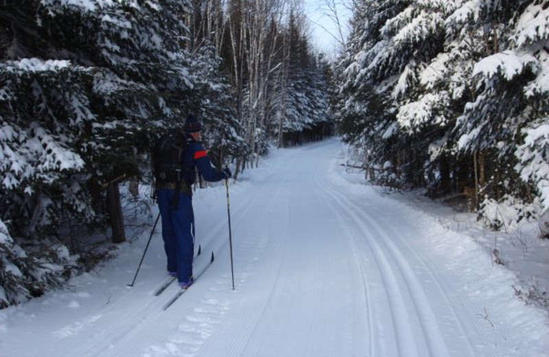 Cross country skiing at Cascade Lodge.