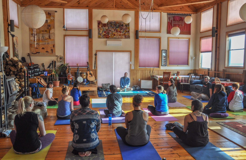 Yoga at Cabot Shores Wilderness Resort.