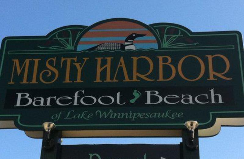Entrance at Misty Harbor.