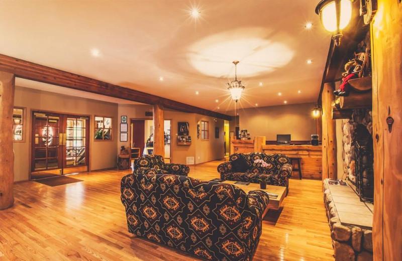 Lobby at Glacier House Resort.