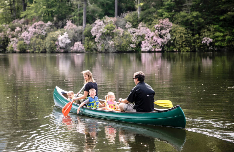 Family canoeing at High Hampton Inn & Country Club. Photo Credit: Heidi Gledhauser for Heirloomed