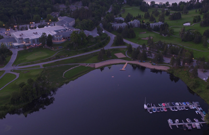 Aerial view of Deerhurst Resort.