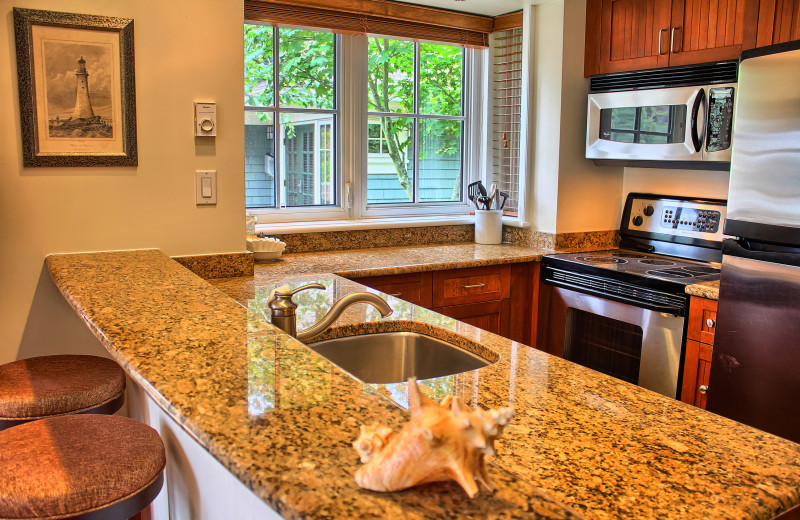Guest kitchen at Poets Cove Resort & Spa.