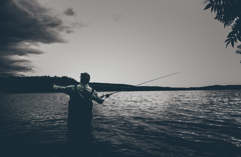 Fishing at Kavanaugh's Sylvan Lake Resort.