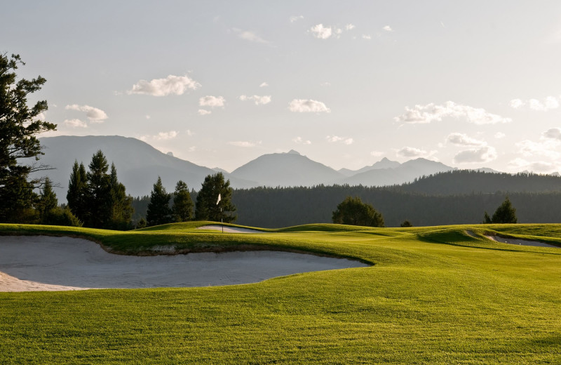 Golf course at Bighorn Meadows Resort.