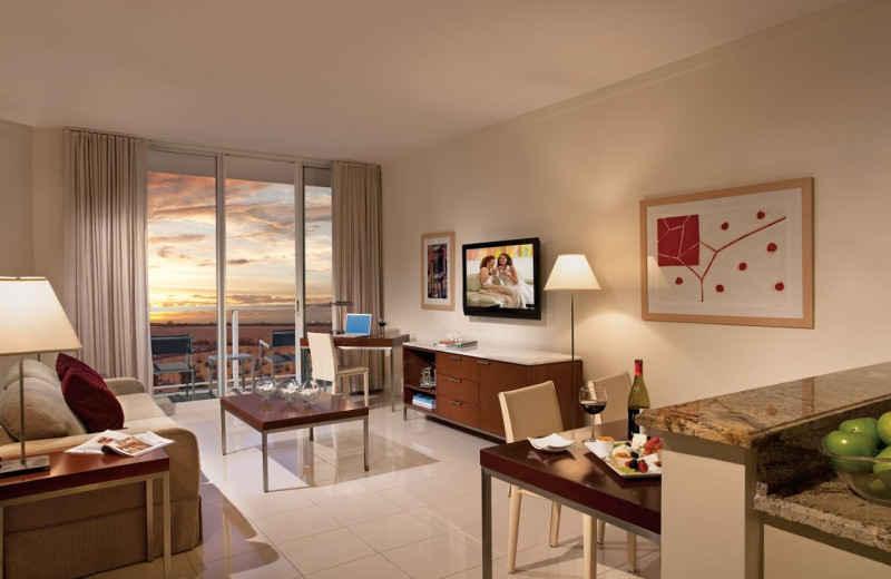 Guest suite at Sonesta Bayfront Hotel Coconut Grove.