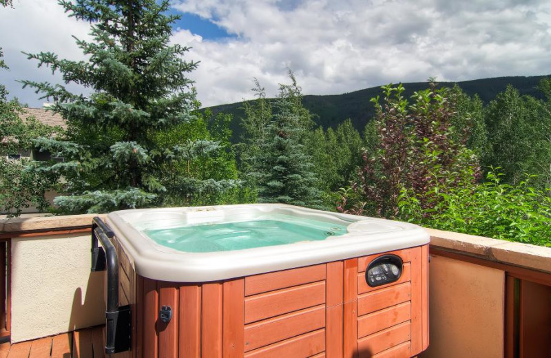 Rental hot tub at Accommodations Vail Beaver Creek.
