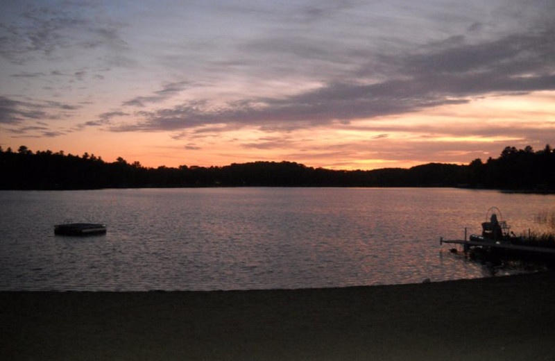 Sunset on the lake at Wilderness Resort Villas.