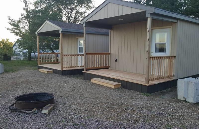 Cabins at Elm Lake Lodge.