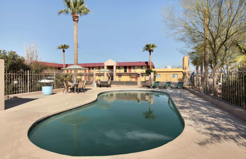 Outdoor pool at Super 8 Eloy.