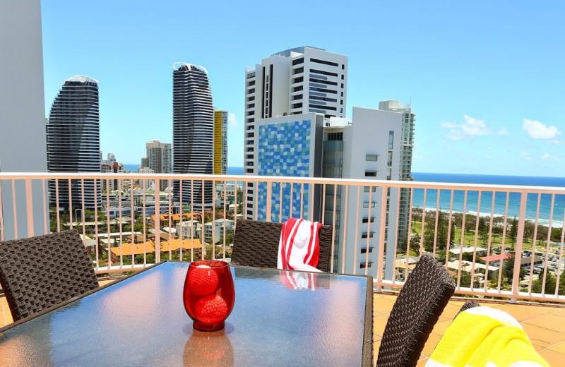 Balcony view at Mantra Bel Air Resort.