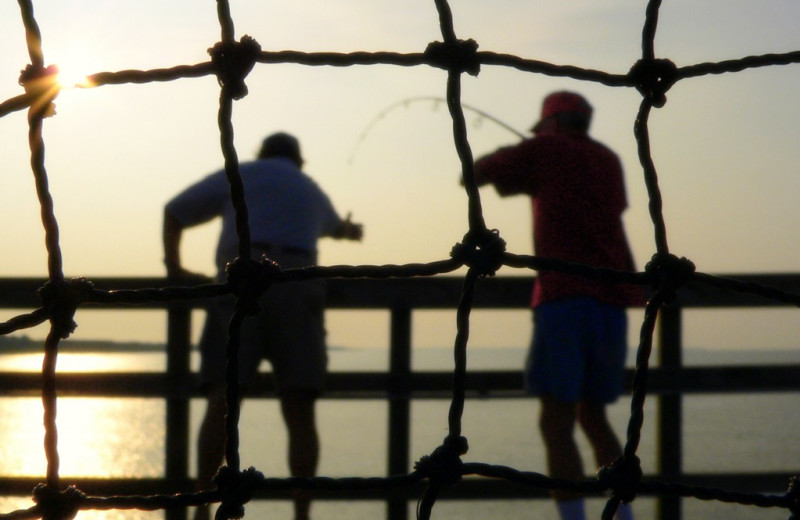 Fishing at Oak Island Accomodations.