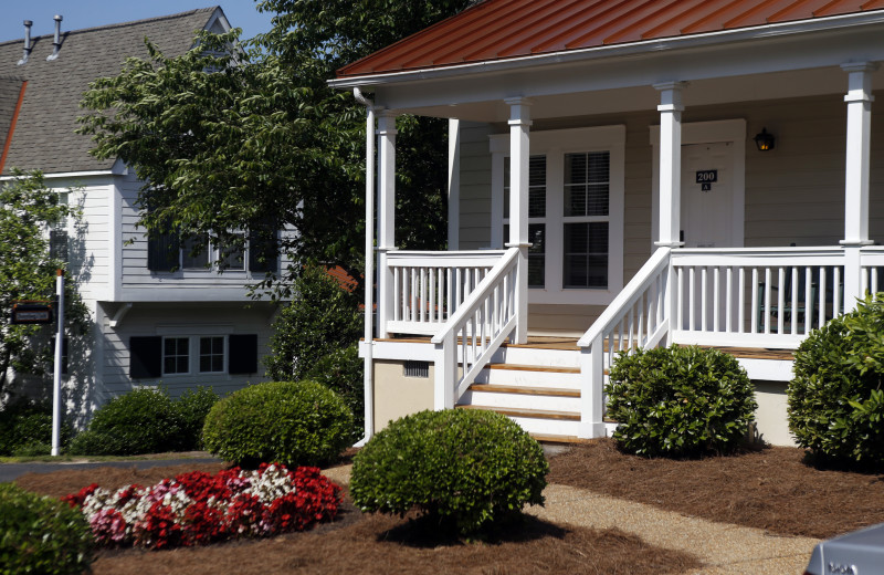 Cottage exterior at King's Creek Plantation.