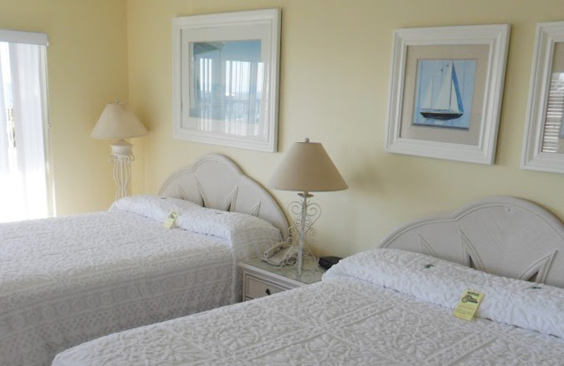 Guest room at Edison Beach House.