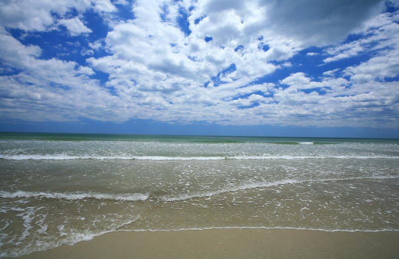 Ocean waves at Holiday Isle Oceanfront Resort.
