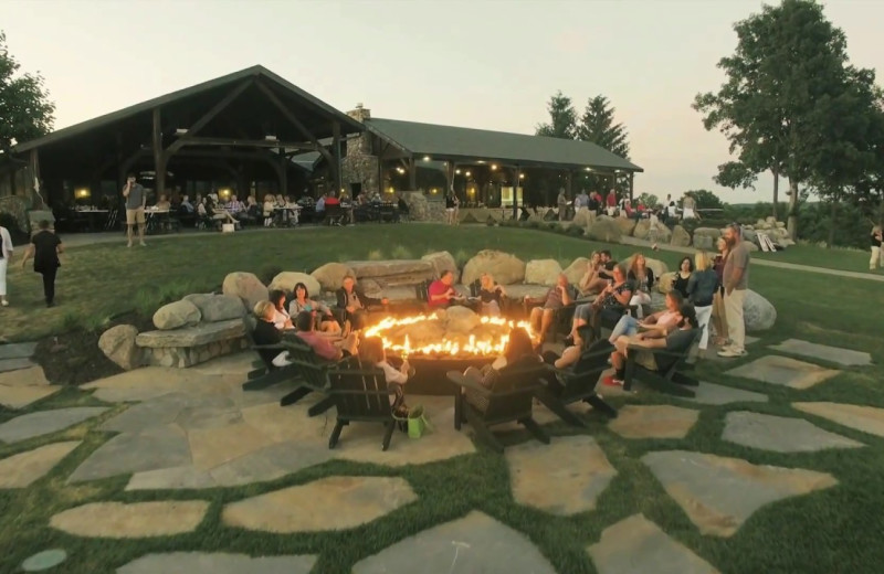 Bonfire at Bristol Harbour Resort on Canandaigua Lake.