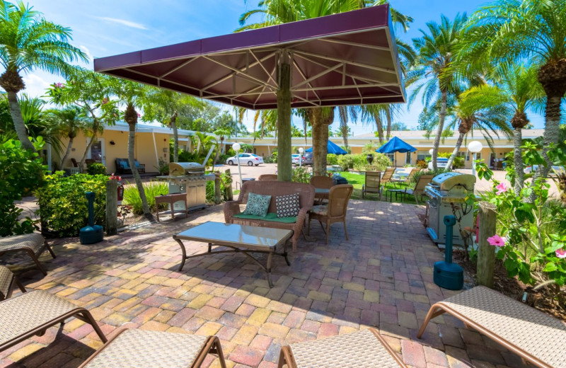 Patio at Tropical Shores Beach Resort.
