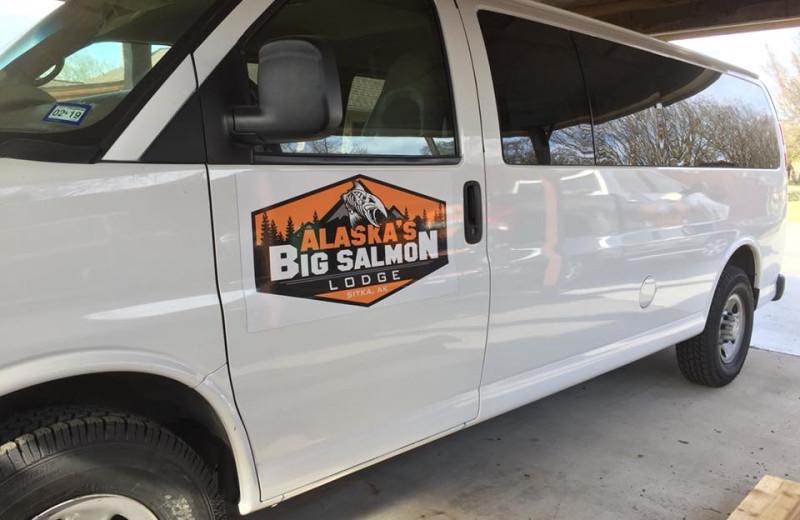 Airport shuttle at Alaska's Big Salmon Lodge.