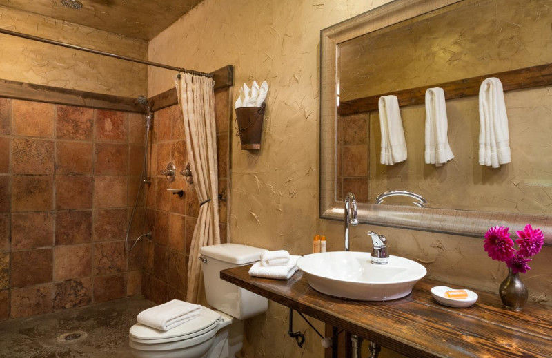 Guest bathroom at The Inn at Leola Village.