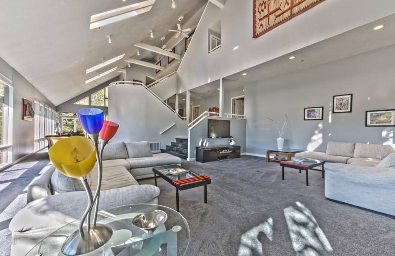 Rental living room at Park City Rental Properties.