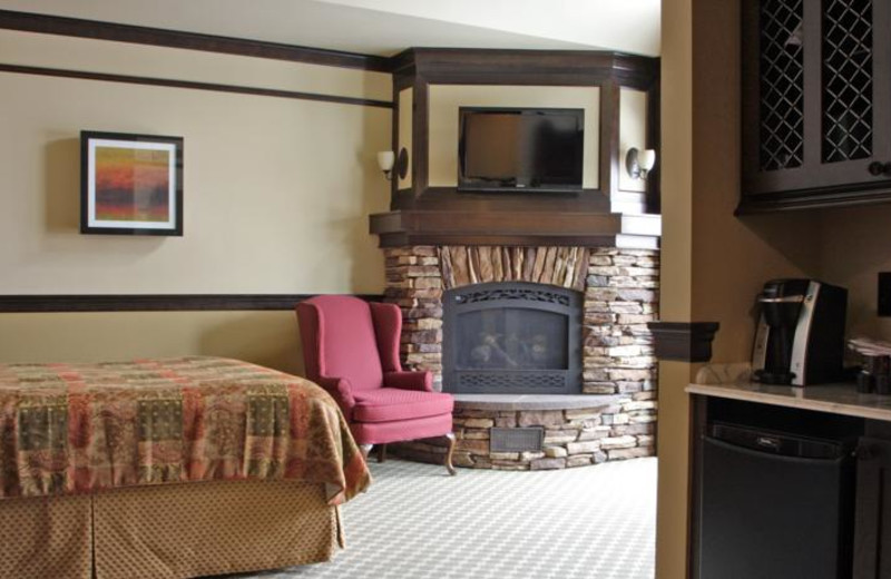Guest room at Lake View Hotel.