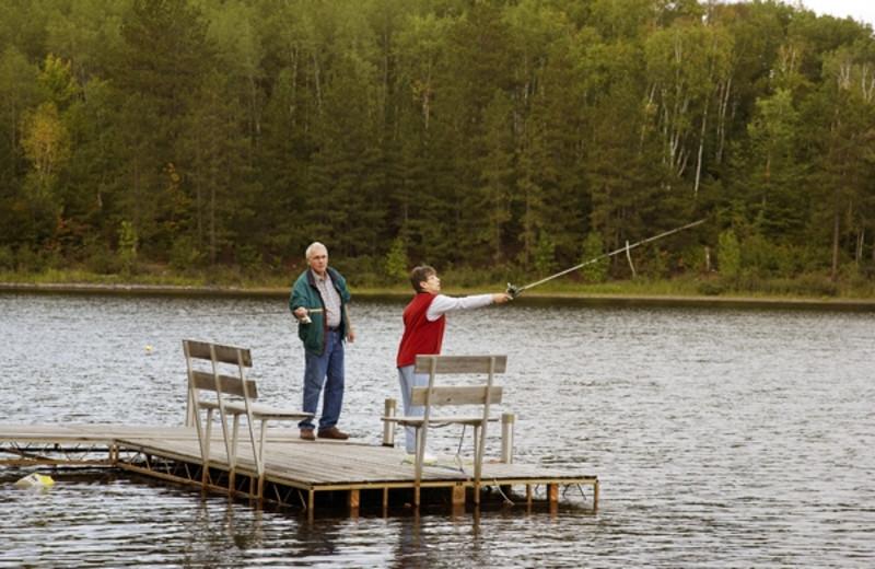 Fishing at Giants Ridge Golf and Ski Resort.