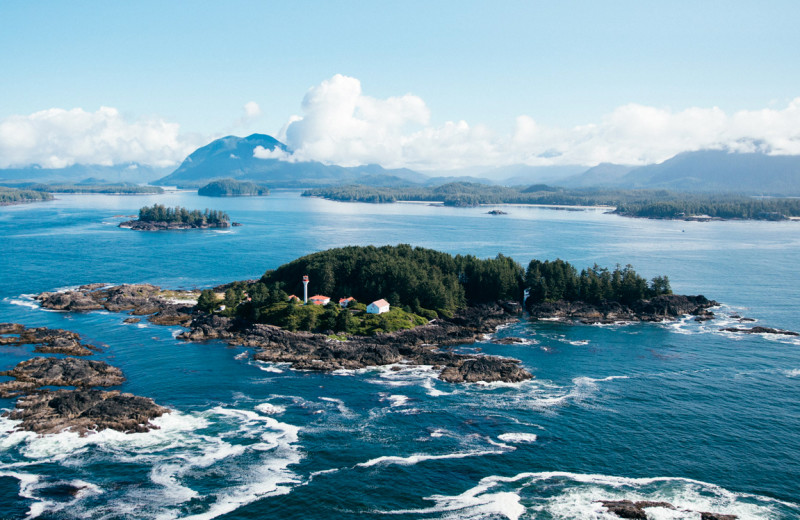 Aerial view of Tofino Resort + Marina.