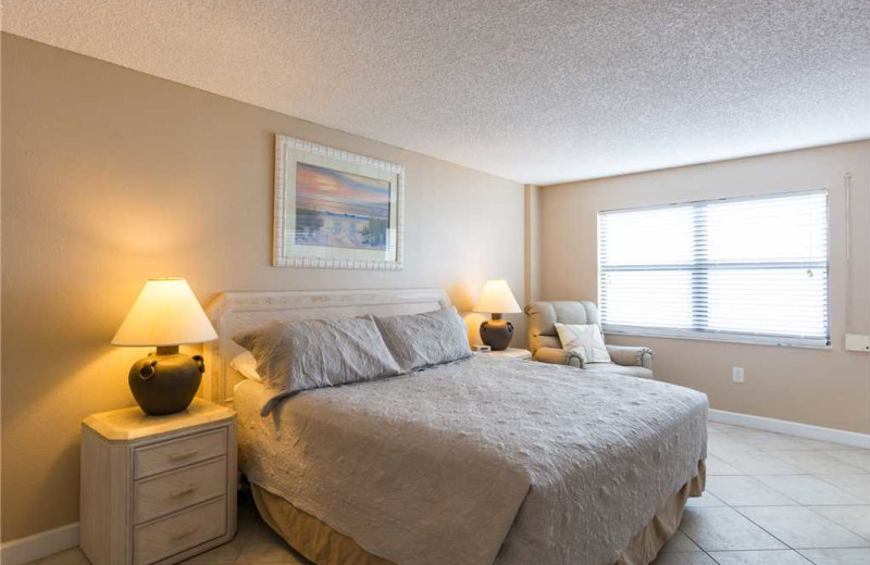 Rental bedroom at Beach Place Condominiums.