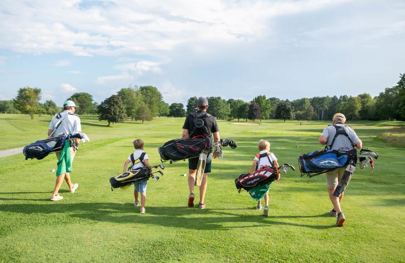 Family golf at Basin Harbor.