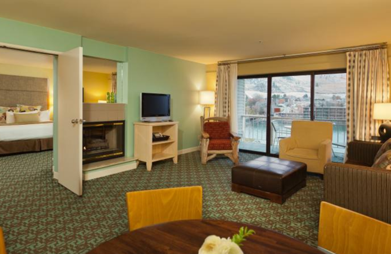 Presidential suite at Campbell's Resort on Lake Chelan.
